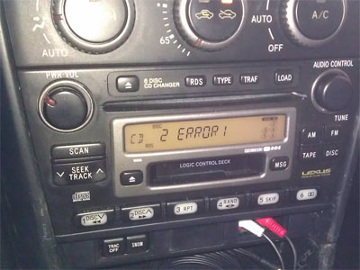 Lexus IS 300 Stereo ERROR 1